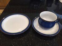 Denby Blue Imperial Blue 18 piece tea set UNUSED. BOXED