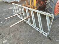 Two 10ft cattle feed barriers farm livestock tractor