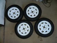 VW Polo wheels with 175/65 R13 snow tyres