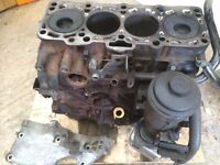VW 1900Diesel Crankshaft and pistons in block
