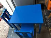 Ikea kritters kids table and 2 chairs