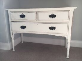 Period Dressing Table - White and Wood