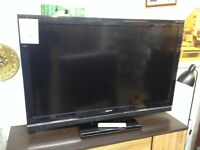 "52"" Sony Bravia TV with Remote Control"