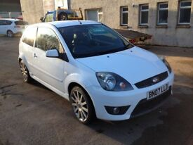 07 PLATE FORD FIESTA 2.0 ST 3DR 71700 MILES FSH IN FROZEN WHITE £3500