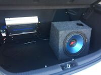 Kenwood subwoofer and 230 watts amplfier