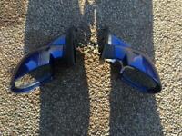 Right Driver Wing Car Mirror Glass BLUE VAUXHALL CORSA C SRI 2001-2006 HAGUS