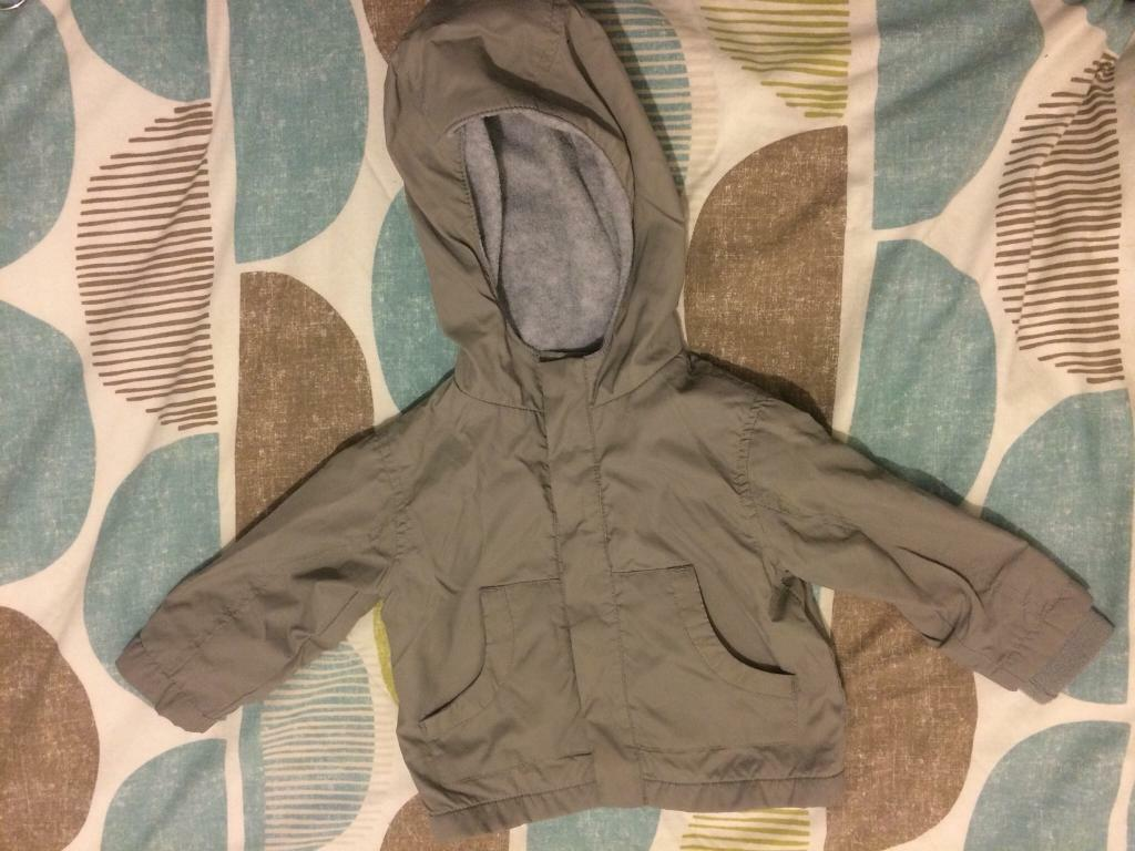 Boys Grey Shower Resistant Jacket 9-12 Months