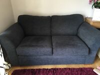 Next large sofa in charcoal grey