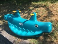 Little Tikes Rocking Whale SEESAW for garden outdoor activity
