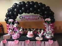 Mickey & Minnie Party - Cake Table - Balloon Arch - Soft Play & Bouncy Castle