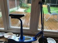 Razor E100S Electric Scooter with seat - blue