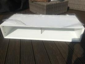 White gloss tv stand (Alphason rrp £280)