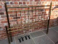 Vintage 60' s brass bed
