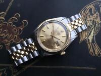 Genuine vintage Rolex gold & steel 1601 automatic Datejust men's watch