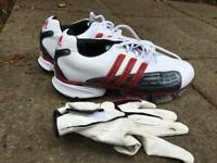Golf shoes and glove size 7.5