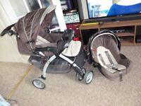 Brown Pram and Car seat Bundle