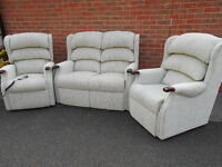 HSL Linton suite - 2 seater sofa, 1 chair and 1 riser recliner - Can deliver