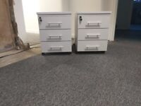 Light Grey office pedestal under desk drawers