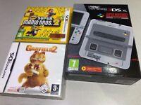 Nintendo 3DS XL - Super Nintendo Edition - Super Mario Bros 2 Donkey Kong Country Returns Garfield 2