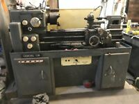 Churchill Cub Lathe for sale 3 phase electric 2 Chucks