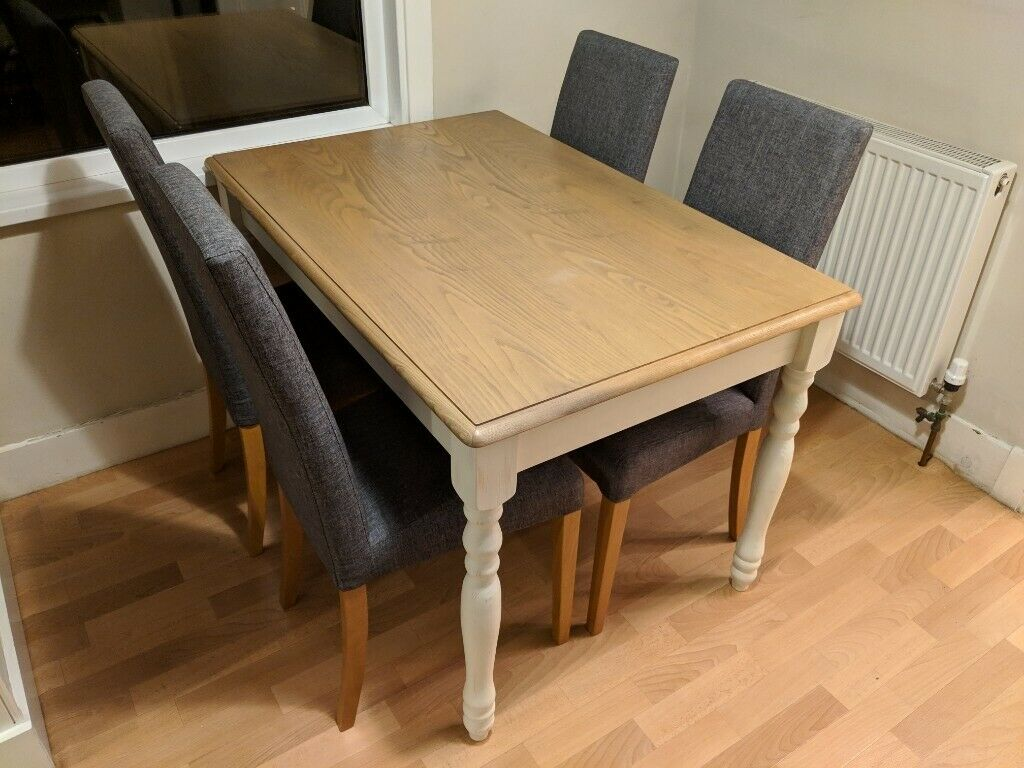 Wooden Kitchen/Dining Table and 4 Chairs (John Lewis ...