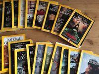 National geographic magazines - 1986 - 2003