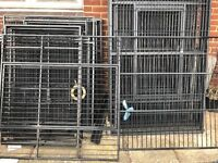 Parrot cages job lot, including large Kings Cage for large parrot or Macaw, large corner cage & more
