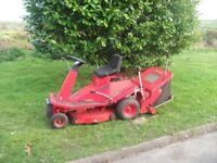 Countax Rider 1230 ride on lawnmower mower all good ready for use complete with sweeper