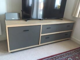 TV cabinet with oak style finish