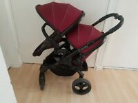 iCandy Peach Claret Pushchair DOUBLE