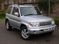 EXCELLENT 4X4!! 2005 MITSUBISHI PININ 1.8 MPI ELEGANCE 3DR, FULL BLACK LEATHER, 1 YEAR MOT, WARRANTY