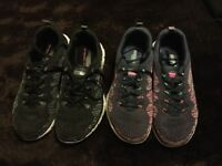 2 pairs, sketchers trainers