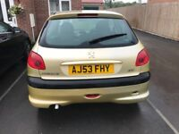 Peugeot 206 Low millage and Cam Belt changed