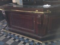 Opening a Bar/Restaurant ? - Genuine 1960's Pub Fittings inc stained glass, mirrors, brass rails