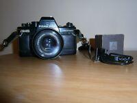 Praktica SLR film camera + telephoto lens