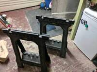 2x Stanley fat max saw horses