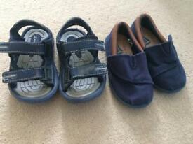 Boys pumps and sandals size 7