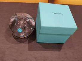 Tiffany's Glass Apple Paperweight - New