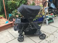 Joovy Caboose Ultralight double tandem pushchair