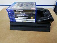 SONY PS4 SLIM 1TB GTA CALL OF DUTY FIFA WITH 6 GAMES & RECEIPT