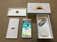 iPhone 6s, Gold, 64GB. Excellent condition. Unlocked. Boxed with accessories .