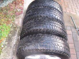 4 alloy wheels with MARANGONI winter tyres.To fit HYUNDAI I30