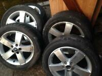 """4 Ford tyres with alloys (17"""") Brand new"""