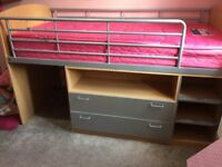 Bunk bed- Good condition bunk bed with hardly used mattress .only for collection