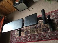 Weights/sit up bench **collection only**