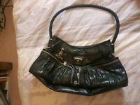 Black leather Diesel bag