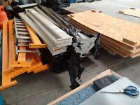 Pallet racking bars and shelves