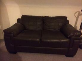 Brown 2 seater sofa - great conditoon