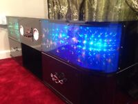 Brand New TV stand with Sound system built in and Radio come with 3D LED light black