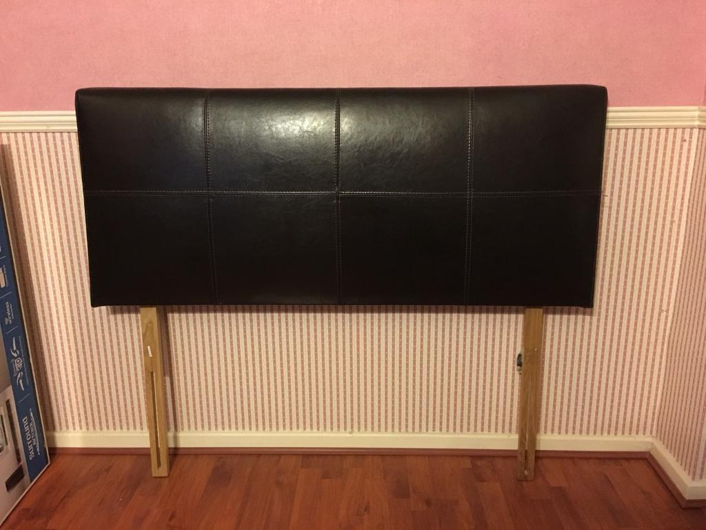 """Padded Leather Look 4ft 6"""" Double bed Headboard"""